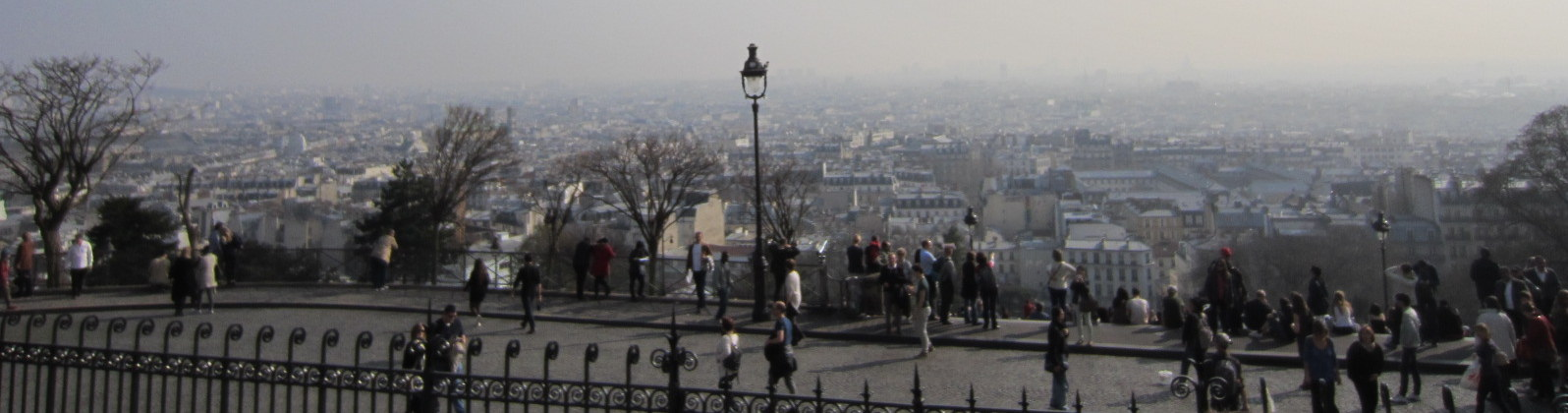 Paris - view from Montmartre (on a day with especially low air quality)